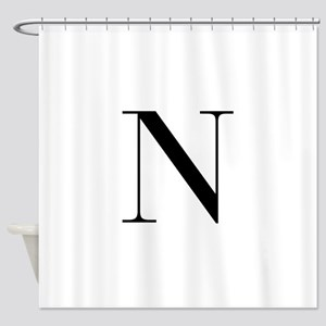 N-bod black Shower Curtain