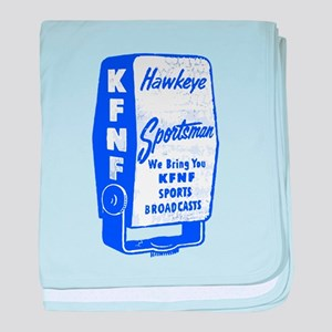KFNF Sports Broadcast baby blanket