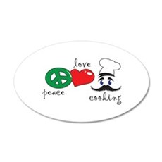 PEACE LOVE COOKING Wall Decal