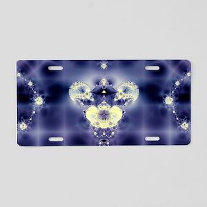 Blue Firmament Aluminum License Plate