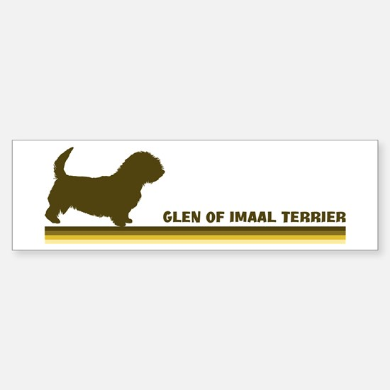 Glen Of Imaal Terrier (retro- Bumper Bumper Bumper Sticker