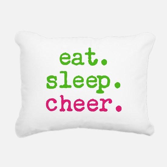 Eat.sleep.cheer. Rectangular Canvas Pillow
