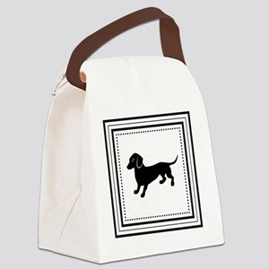 Dachshund Retro Style Canvas Lunch Bag