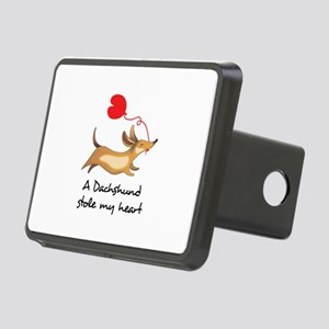 DACHSHUND STOLE MY HEART Hitch Cover