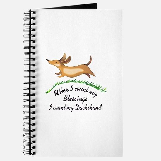 DACHSHUND BLESSINGS Journal