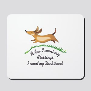 DACHSHUND BLESSINGS Mousepad