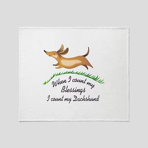 DACHSHUND BLESSINGS Throw Blanket