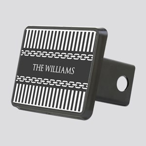 Gray and White Stripes Per Rectangular Hitch Cover