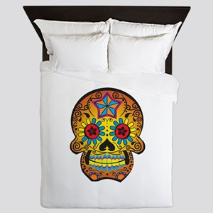 DAY OF THE DEAD SKULL Queen Duvet