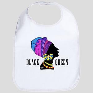 Black African Queen Bib