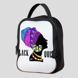 Black African Queen Neoprene Lunch Bag