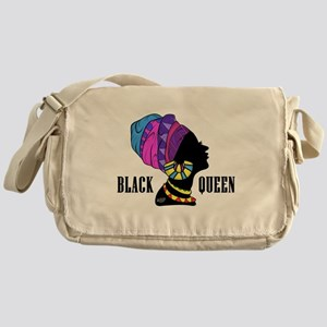 Black African Queen Messenger Bag