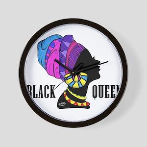 Black African Queen Wall Clock
