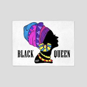 Black African Queen 5'x7'Area Rug