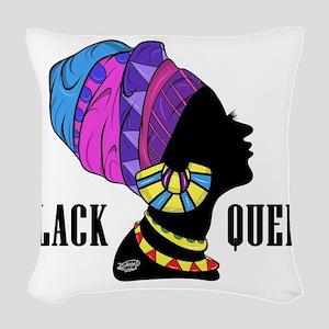 Black African Queen Woven Throw Pillow