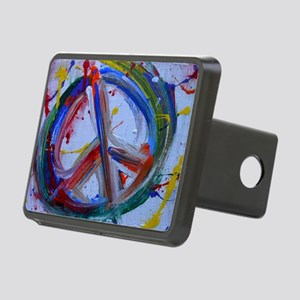 abstract peace Rectangular Hitch Cover