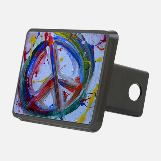 abstract peace Hitch Cover