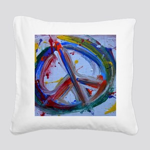 abstract peace Square Canvas Pillow