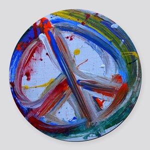 abstract peace Round Car Magnet