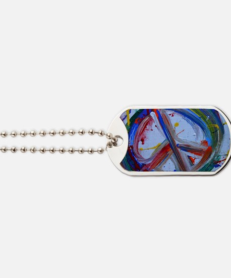 abstract peace Dog Tags
