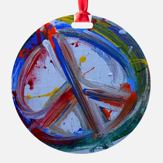 abstract peace Ornament