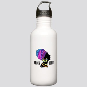 Black African Queen Stainless Water Bottle 1.0L