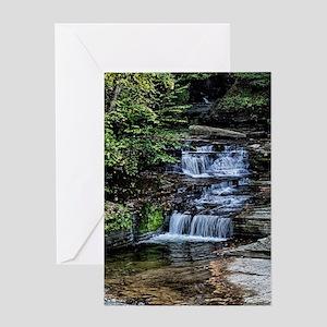 Eagle Cliff Falls 1 Greeting Card