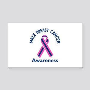 MALE BREAST CANCER Rectangle Car Magnet