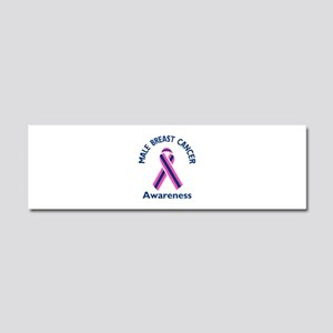 MALE BREAST CANCER Car Magnet 10 x 3