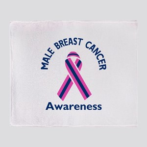 MALE BREAST CANCER Throw Blanket
