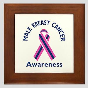 MALE BREAST CANCER Framed Tile