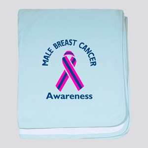MALE BREAST CANCER baby blanket