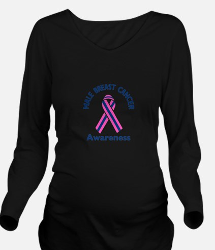 MALE BREAST CANCER Long Sleeve Maternity T-Shirt