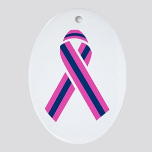 MALE BREAST CANCER Ornament (Oval)
