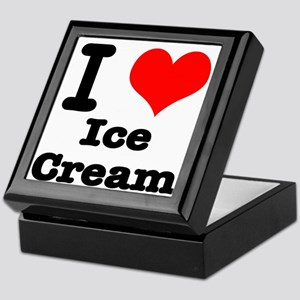 I Heart (Love) Ice Cream Keepsake Box