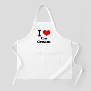 I Heart (Love) Ice Cream BBQ Apron