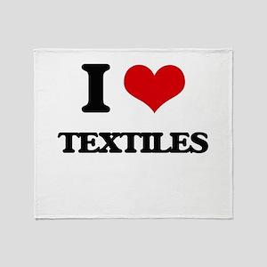 I love Textiles Throw Blanket