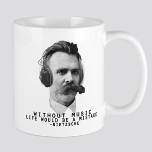 Friedriech Nietzsche: Music Is Life Mugs