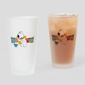 Family Guy Brian Martini Drinking Glass