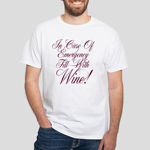 Wine Lovers White T-Shirt