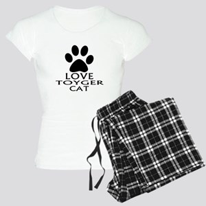 Love Toyger Cat Designs Women's Light Pajamas