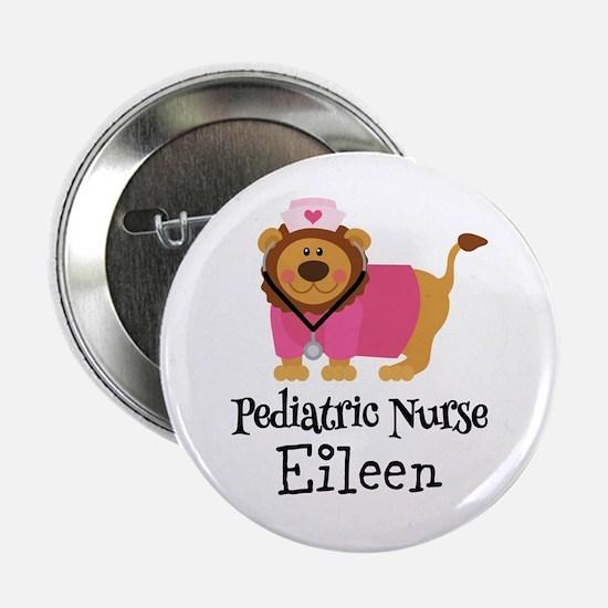 """Personalized Pediatric Nurse 2.25"""" Button"""