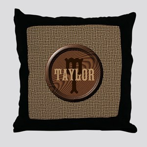 Customizable Monogram Throw Pillow