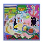 Food and drink still life Tile Coaster