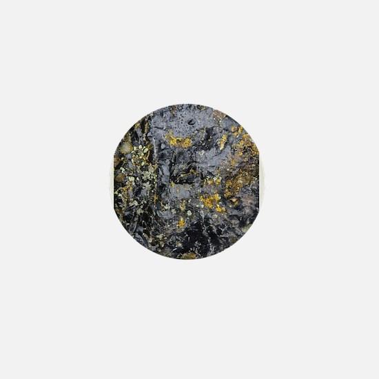Obsidian and Lichen Mini Button