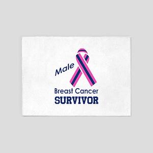BREAST CANCER SURVIVOR 5'x7'Area Rug