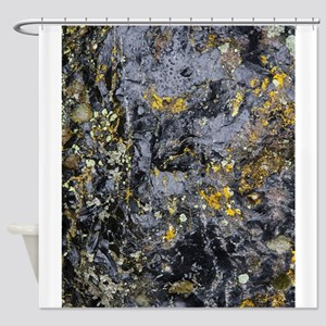 Obsidian and Lichen Shower Curtain