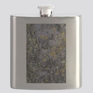 Obsidian and Lichen Flask