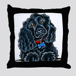 Cocker Spaniel Fitz Throw Pillow