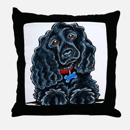 Cocker Spaniel Fitz Throw Pillow